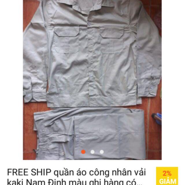 Quần áo lao động màu ghi xi măng