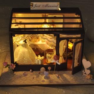 Hàng Mới Nhà búp bê Tiệm váy cưới Just Married TYUD24