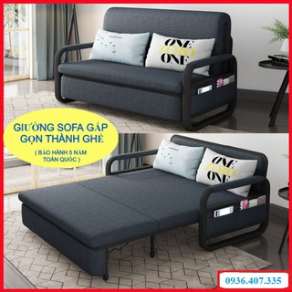Giường sofa thông minh gấp gọn thành ghế,giường sofa đa năng, khung thép chất lượng cao -Có ngăn chứa đồ.