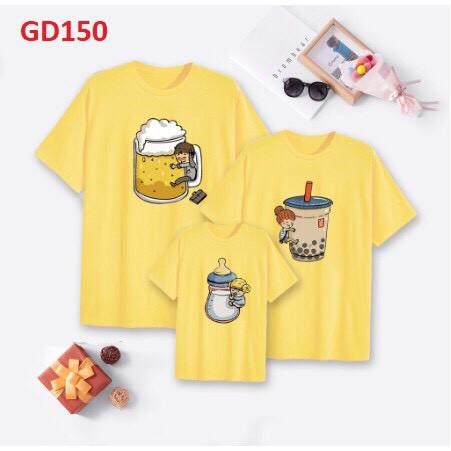 In áo theo yêu cầu l Áo Thun Gia Đình Hình ChiBi Trà Sữa Siêu Dễ Thương_GD150