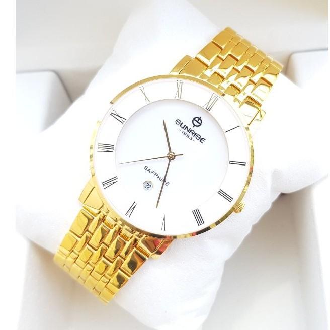 Đồng hồ nam SUNRISE 1197SWAV Full hộp, thẻ bảo hành chính hãng, Kính Sapphire chống