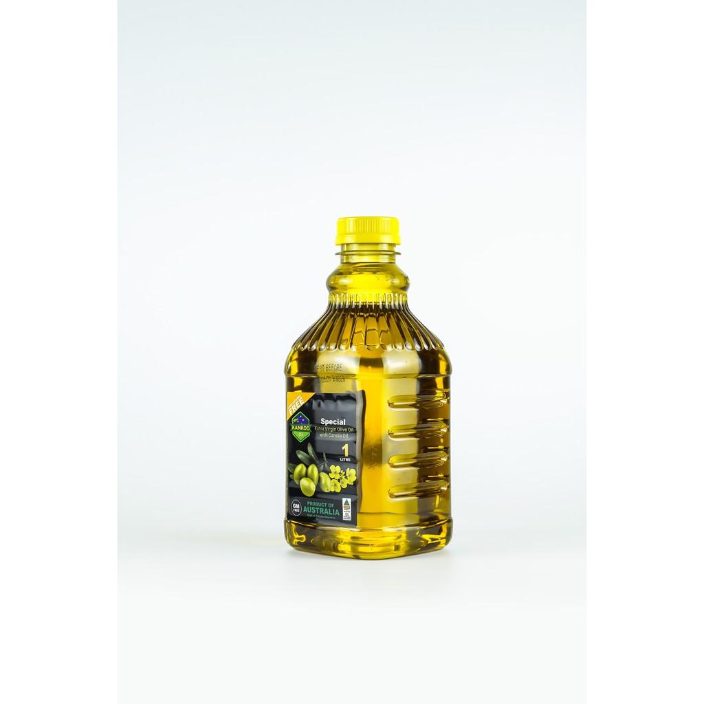 Dầu ăn - Dầu Oliu hạt cải chiên xào Kankoo 1L