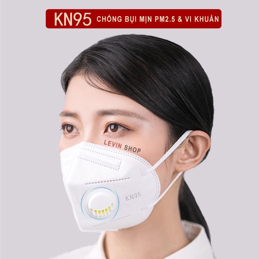 [Có van] Khẩu trang KN95 chống bụi mịn PM2.5, kháng khuẩn [SL 1 chiếc]
