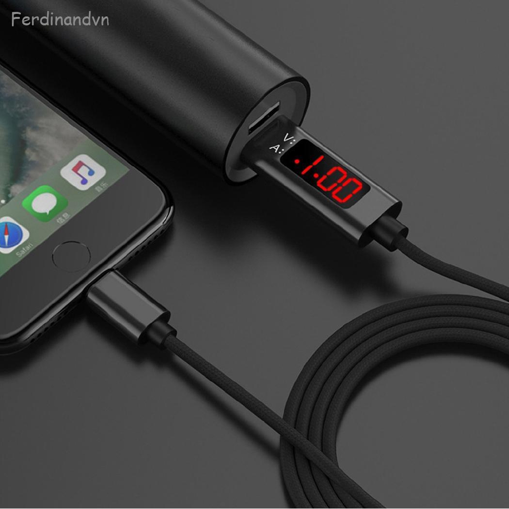Hot Voltage Current Display Type C/Micro USB Data Charging Cable For iPhone/