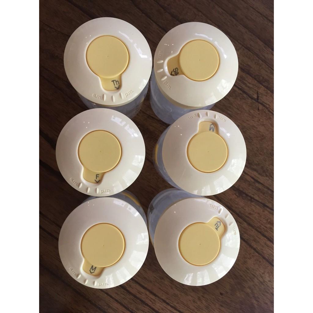 Nắp Medela vặn bình trữ sữa và xoay chỉnh được thời gian vắt