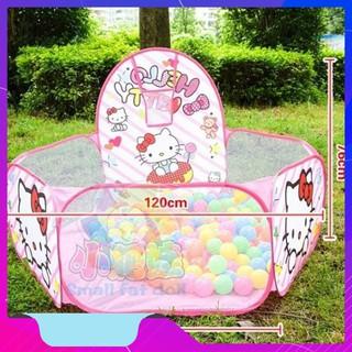 Lều Bóng Hello Kitty Hồng Kèm 100 Bóng – HÀNG CHẤT LƯỢNG CAO