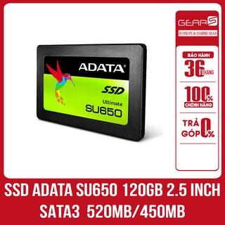 Ổ cứng SSD Adata SU650 120GB 2.5 inch SATA3 (Đọc 520MB s - Ghi 450MB s) - Bảo hành 36 Tháng chính hãng thumbnail
