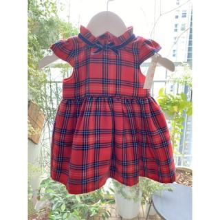 Đầm cho bé ⚡𝗙𝗥𝗘𝗘 𝗦𝗛𝗜𝗣⚡ Váy primark caro kẻ pha dạ cho bé, cổ nơ xinh
