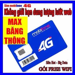 Sim KHÔNG GIỚI HẠN DATA Mobifone DIP50 [Free tháng đầu]