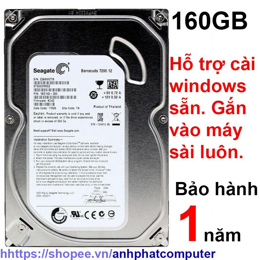 Ổ cứng HDD 160GB sata máy tính để bàn