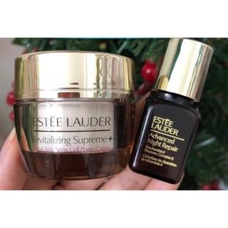 Combo dưỡng da Estee Lauder kem dưỡng và serum Advanced Night Repair