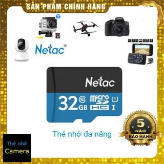 Thẻ nhớ Netac 32Gb Micro SD Class10 80Mb/s - Chính hãng bảo hành 5 năm