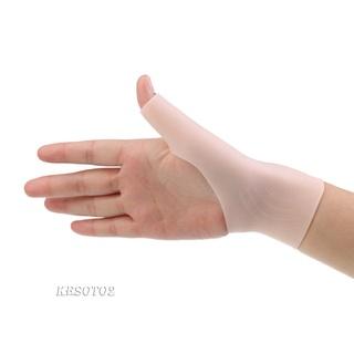 1 Pair Silicone Gel Thumb Wrist Support Gloves Tenosynovitis Spasms Brace