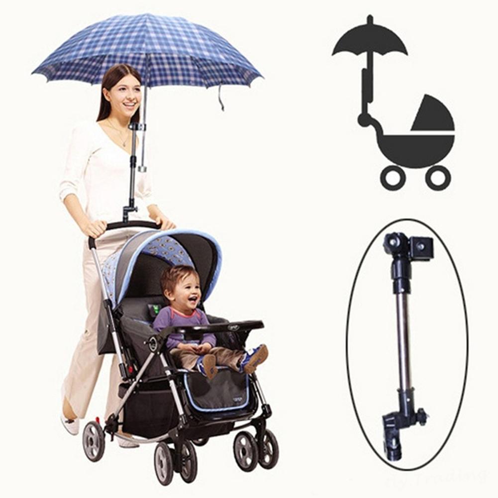 New Bicycle Baby Stroller Adjustable Umbrella Holder Bracket Pram Swivel Connector