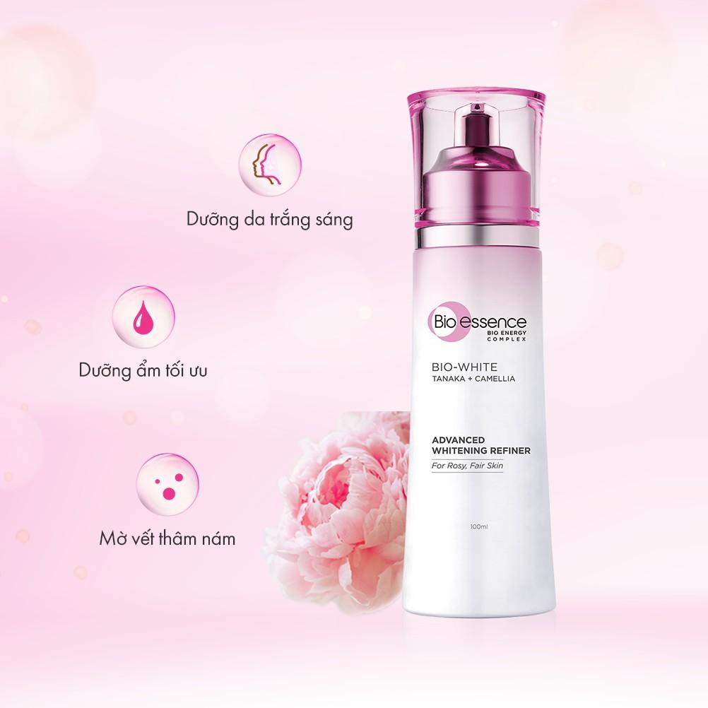 Nước cân bằng da trắng hồng Bio-Essence Bio-White Advanced Whitening Refiner  chiết xuất Tanaka & Camellia 100ml | Shopee Việt Nam