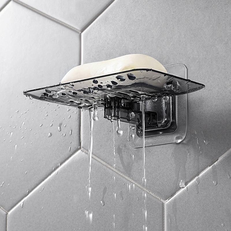 Khay để xà phòng nhà tắm gắn tường trong suốt tiện dụng