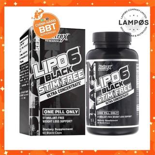 LIPO6 Black Stim Free, Hỗ Trợ Đốt Mỡ Hiệu Quả Không Caffeine của Nutrex