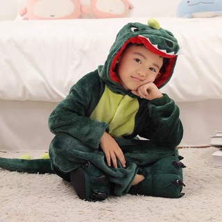 Bộ đồ thú đồ ngủ khủng long xanh / cá sấu cho trẻ em bé