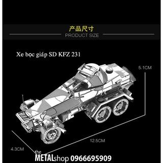 Mô Hình Lắp Ráp Kim Loại xe quân sự