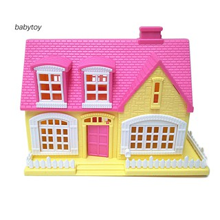 [Baby]Lovely Window Door Openable Mini 3D Toy House Cottage Kids Doll Accessories