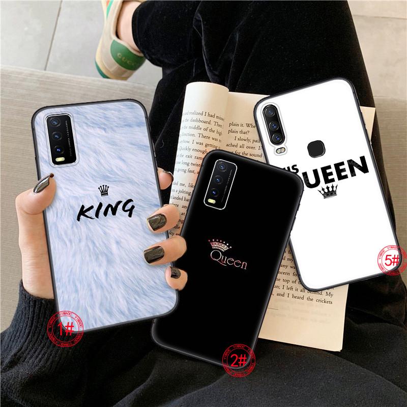Ốp Điện Thoại Mềm Hình Queen & King Cho Vivo Y15 2020 Y19 V19 Y30 Y50 X30 X50 Pro S7 Y20