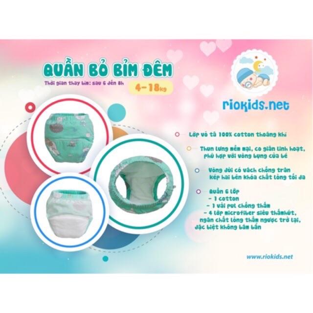 Quần tập bỏ bỉm RIOKIDS cho bé hàng Việt Nam Size từ 3-22kg