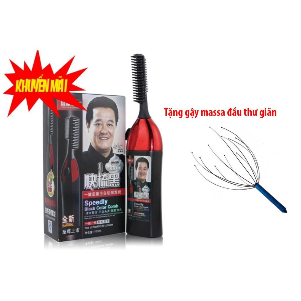 Bộ Lược chải nhuộm tóc thông minh thế hệ mới 1 nút bấm và thuốc nhuộm (đen) tặng gậy massa đầu thư g - 3016373 , 840478658 , 322_840478658 , 390000 , Bo-Luoc-chai-nhuom-toc-thong-minh-the-he-moi-1-nut-bam-va-thuoc-nhuom-den-tang-gay-massa-dau-thu-g-322_840478658 , shopee.vn , Bộ Lược chải nhuộm tóc thông minh thế hệ mới 1 nút bấm và thuốc nhuộm (đen)