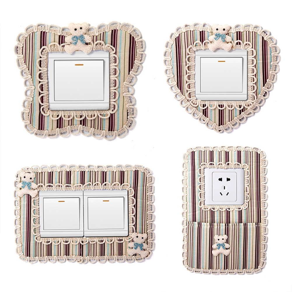 Switch Cover Crown Wall Light Surround Socket Stickers Home Decor Plate Panel