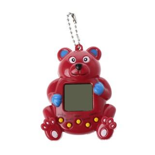 Virtual Digital Pet Handheld Electronic Game Machine With Keychain Bear Shape