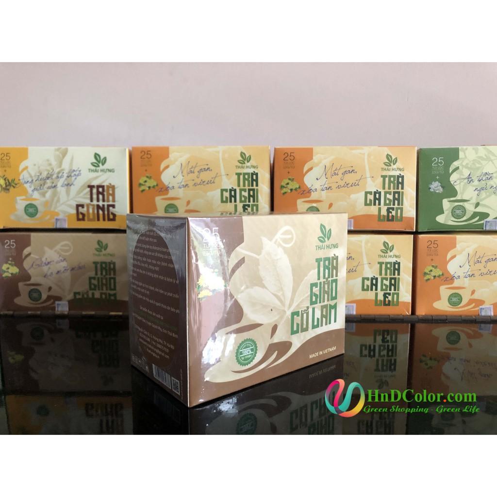 [CHÍNH HÃNG] Trà Giảo Cổ Lam Thái Hưng (trà thảo dược, 100% tự nhiên, hộp cao cấp) - hạ mỡ máu, giảm cân