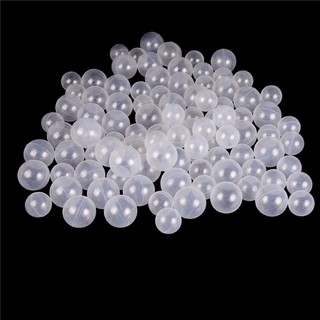 【∮】 50pcs/lot Baby Safety Transparent White Plastic Pool Ocean Balls Funny Toys ☆HOT☆