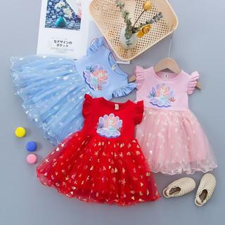 Váy nàng tiên cá Ariel Váy công chúa cho bé gái hàng Quảng Châu D753