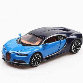 1:32 Sound and Light Pull Back Car Simulation Bugatti Chiron Alloy Car Model Super Sports Car Model