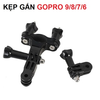 Bộ kẹp xe đạp gắn gopro 9 8 7 6 máy quay hành động action camera thumbnail