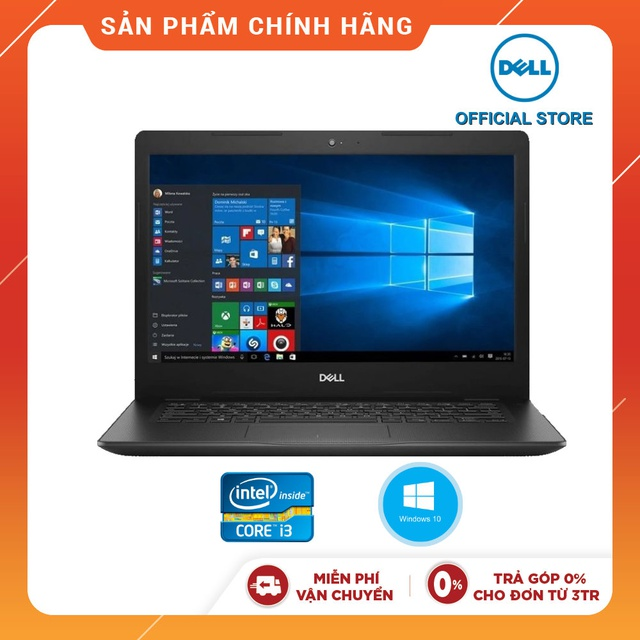 Laptop Dell Vostro V3481 70187645 (Đen)i3-7020U I 4GB I 1TB I WIN 10