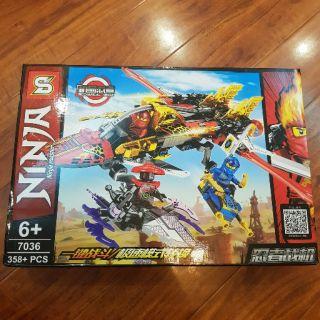 [Mã NOWSHIPMOI hoàn 100% xu đơn 0Đ] Lego Ninjago Máy bay chiến đấu trên không của Kai và Jay 7036