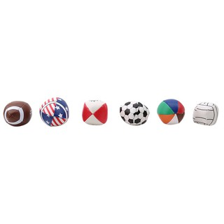 6pcs/bag Soft Rubber Kid Toy Small Rugby Soccer Basketball Children Sport Ball