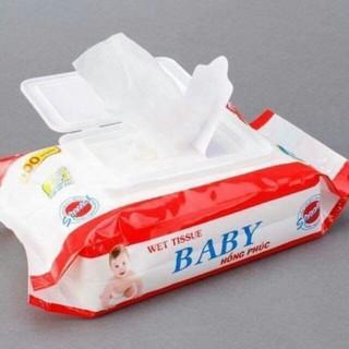 Khăn giấy ướt baby Thiên Phúc 100 tờ 1 gói không mùi, mềm mại an toàn cho bé khăn ướt khăn giấy khô thumbnail