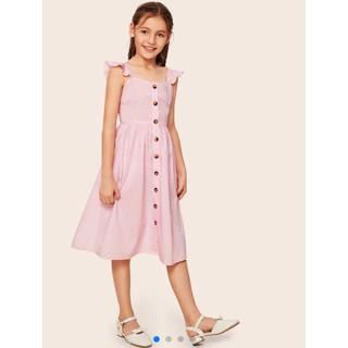 Đầm bé gái Zara hồng siêu mát siêu chảnh