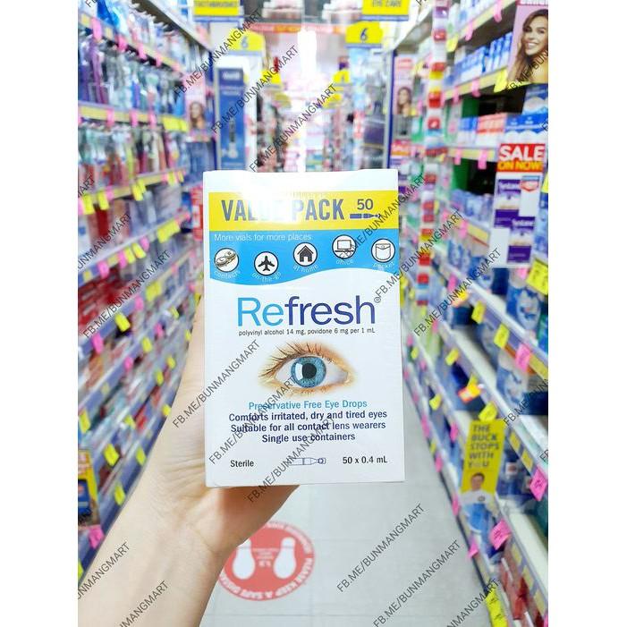 nhỏ mắt Refresh hàng nội địa Úc