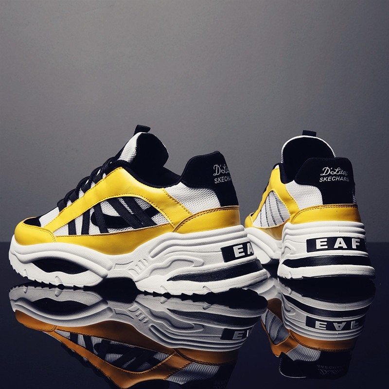 Hong Kong style increased old shoes men's casual sports shoes Korean version of