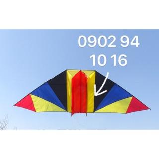 [ MUA 1 ĐU O C 2] Diều thả Delta 2 hộc size lớn chiều rộng 300 x cao 150 cm - TẶNG tay cầm thả diều 150 mét + túi vải thumbnail
