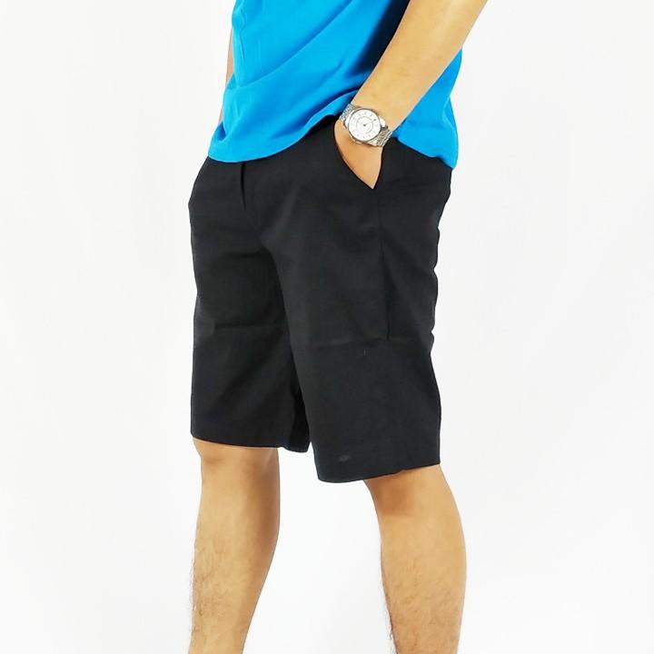 Quần short đũi nam cao cấp phong cách Hàn Quốc màu đen