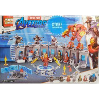Lego SuperHeroes Lắp Ráp Phòng Chứa Giáp Của Ironman ver2.0 ( 626 Mảnh )