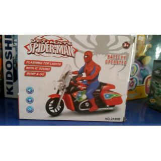 đồ chơi Siêu nhân người nhện Spider Man lái xe moto đua thể thao