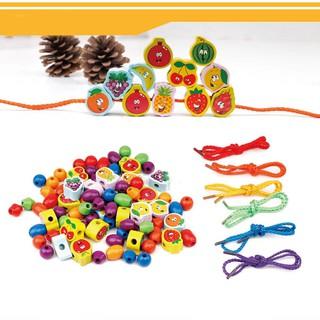 Bộ sâu hạt gỗ cho trẻ đồ chơi giáo dục