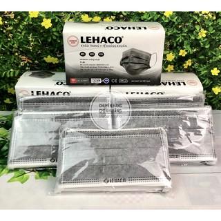 Khẩu Trang Kháng Khuẩn Màu XÁM Lehaco 4 lớp 50 cái hộp - Khẩu Trang y tế Lehaco Kháng Khuẩn thumbnail