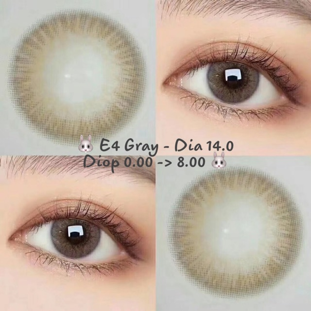 Link 1 [Giá 1 Chiếc] 14.0 (Diop 0.00 -> 8.00) Lens E4 Gray - Kính Áp Tròng