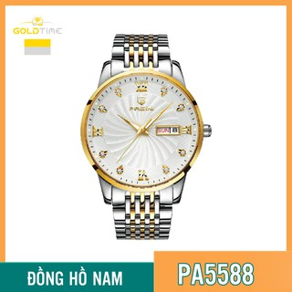 Đồng Hồ Nam PAGINI PA5588 Dây Thép Không Gỉ Cao Cấp Mặt Đính Đá - Kim Dạ Quang