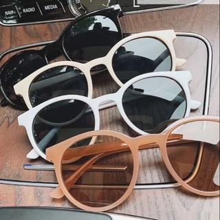 Kính mát tròng tròn chống tia UV400 phong cách Vintage cho nữ